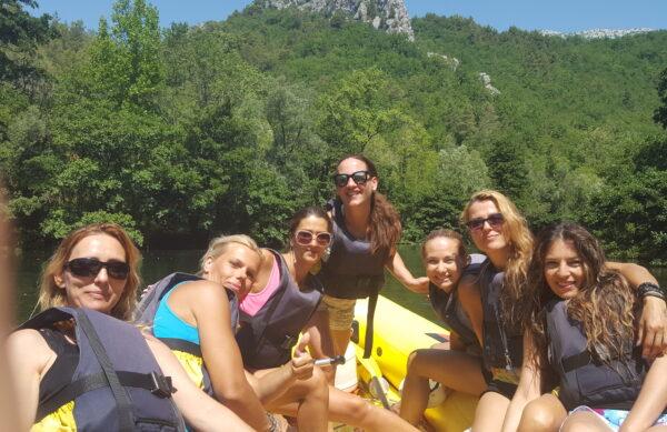 rafting Cetina river Adventure town