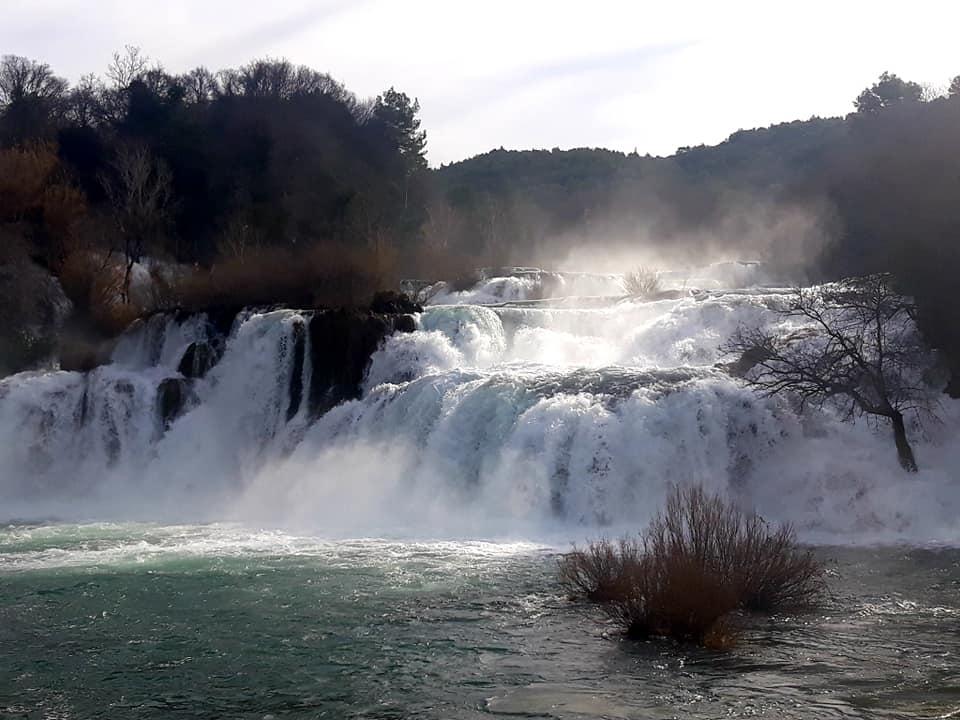 Krka waterfalls Winter one day in šibenik